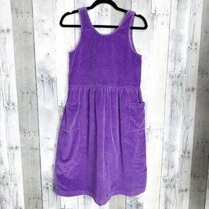 Hanna Andersson Vintage Corduroy Jumper Dress 160